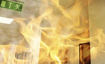 Feuer im Bürohaus