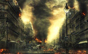 Stadtbrände durch Krieg